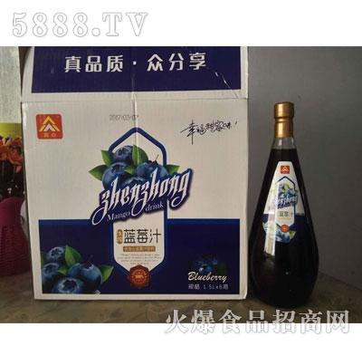 真众生榨蓝莓汁1.5Lx6
