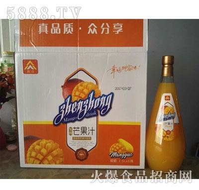 真众生榨芒果汁1.5Lx6