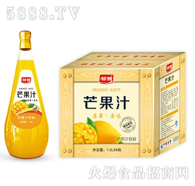 领舞芒果汁饮料1.5Lx6瓶
