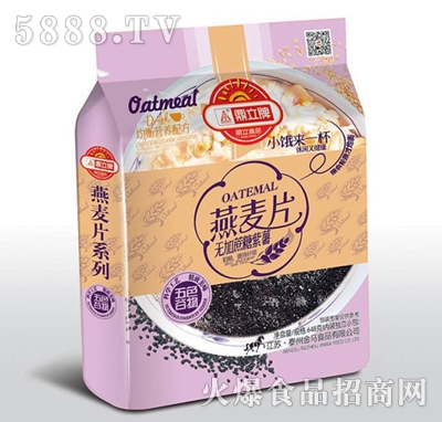 鼎力牌无加蔗糖紫薯燕麦片648g