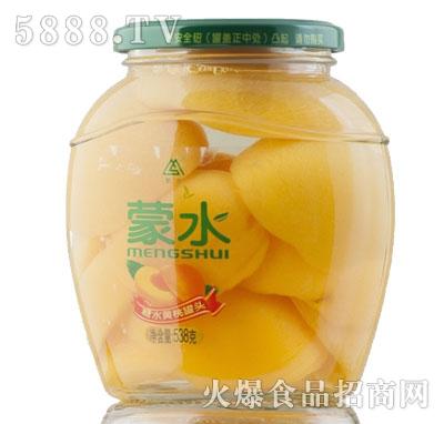 蒙水糖水黄桃罐头538g