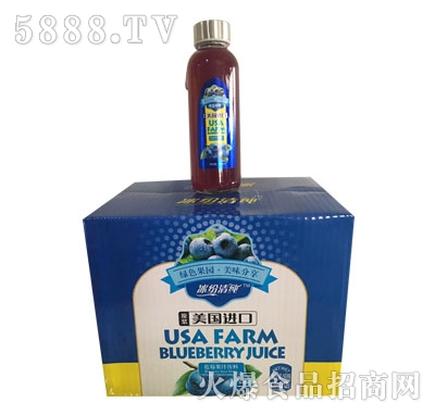 冰纷清蓝莓汁饮料420mlX12