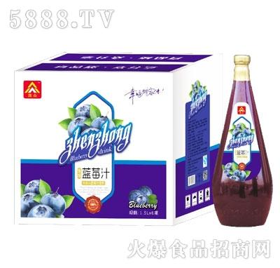 真众生榨蓝莓汁1.5LX6瓶