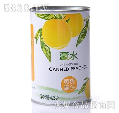 蒙水黄桃罐头425g