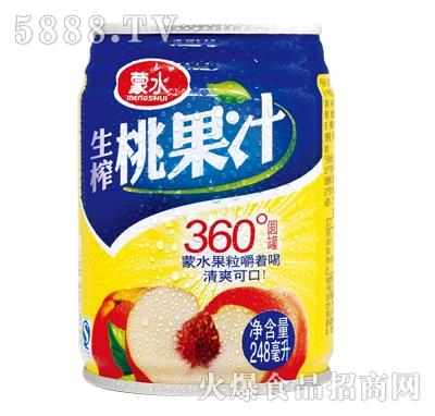 蒙水生榨桃果汁248ml