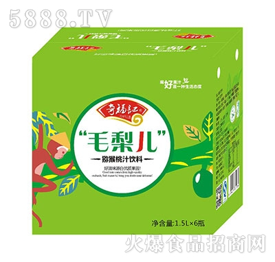 奇福记毛梨儿猕猴桃汁饮料1.5Lx6瓶