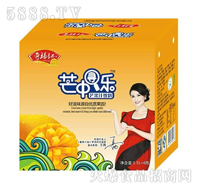 奇福记芒中寻乐芒果汁饮料1.5Lx6瓶