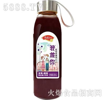 奇福记蓝莓+葡萄复合果汁饮料420ml