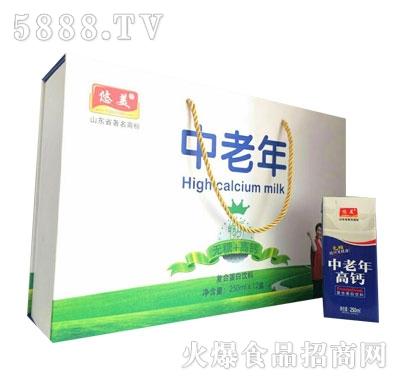 悠美中老年无糖高钙复合蛋白饮料250mlX12