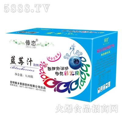 傣乡蓝莓汁1LX8瓶