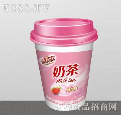 香优优奶茶草莓味80g