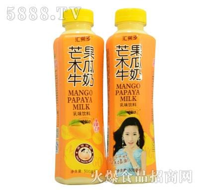 汇果多芒果木瓜牛奶500ml