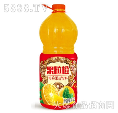 隆江果园橙粒果味饮料2.5L