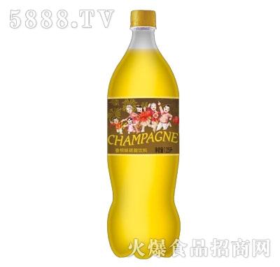 鑫隆江香槟味碳酸饮料1.25L