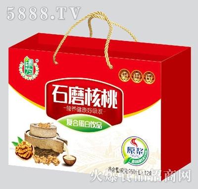 绿为石磨核桃复合蛋白饮品250mlx12盒