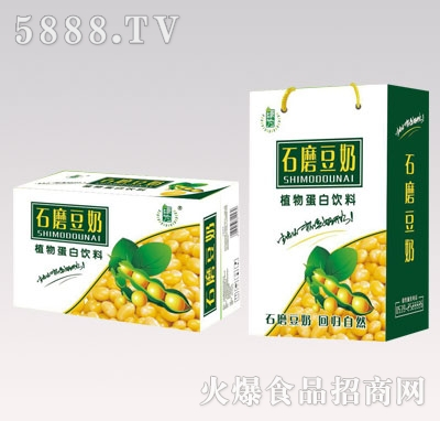 绿为石磨豆奶植物蛋白饮料