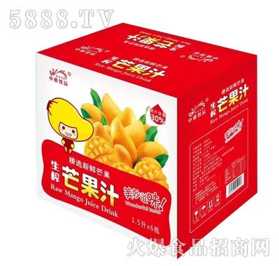 中奥饮品1.5Lx6瓶生榨芒果汁