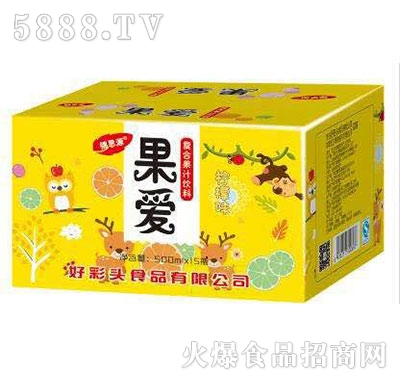 锦思源果爱柠檬味果汁饮料