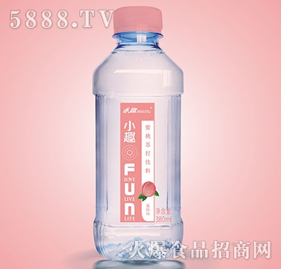 小趣蜜桃苏打饮料380ml