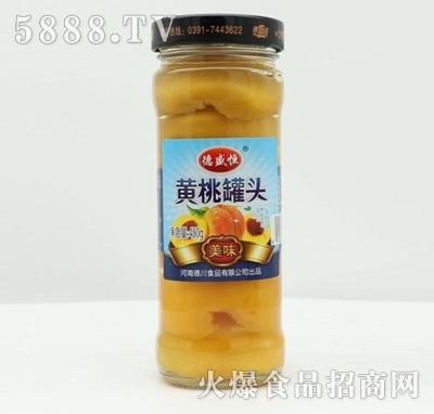 德盛恒黄桃罐头450g