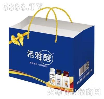 希雅醇黄桃果粒+发酵酸奶(袋)