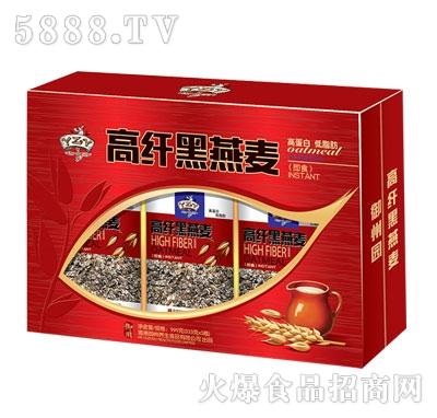 高纤即食黑燕麦333gx3瓶