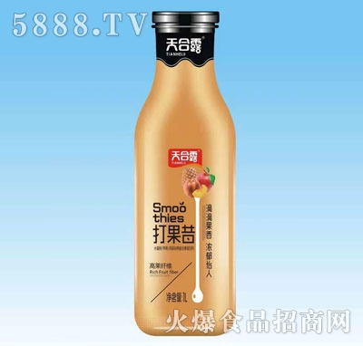天合露打果昔水蜜桃苹果汁凤梨汁谷物复合果昔饮料1L