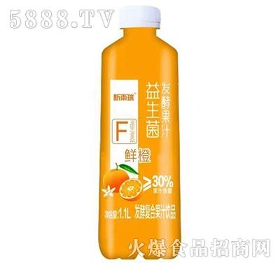 新雨瑞益生菌发酵复合鲜橙汁1.1L
