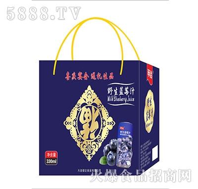 平冶野生蓝莓汁330ml礼盒