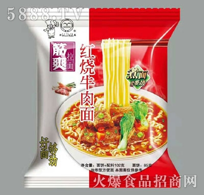 劲爽红烧牛肉面85g(泡面)