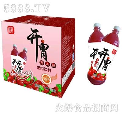 媚果开胃野山楂汁饮料1lx6瓶