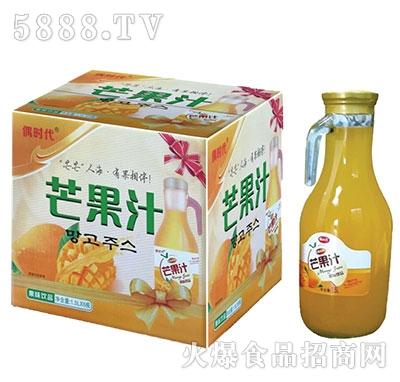 偶时代芒果汁饮料1.5Lx6瓶