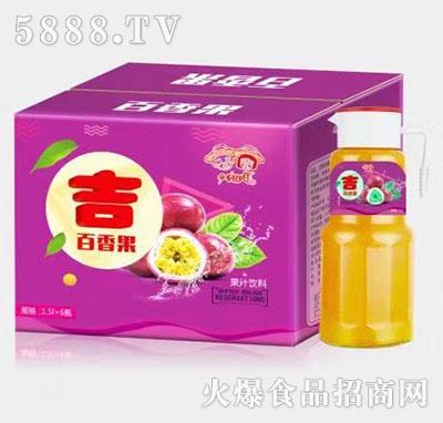 乡村伙伴百香果汁1.5Lx6瓶