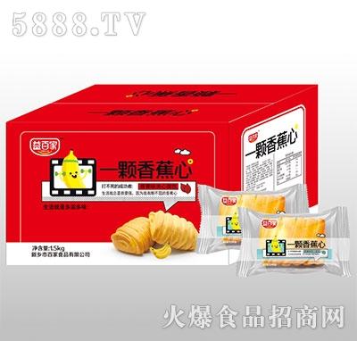 益百家一�w香蕉心�A心面包1.5kg