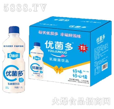 优菌多乳酸菌饮品1.25Lx8瓶