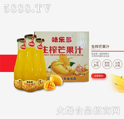 江西达利园味乐多生榨芒果汁1.5Lx6瓶