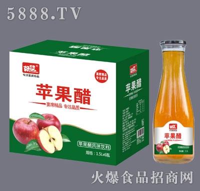 好梦苹果醋玻璃瓶1.5Lx6瓶