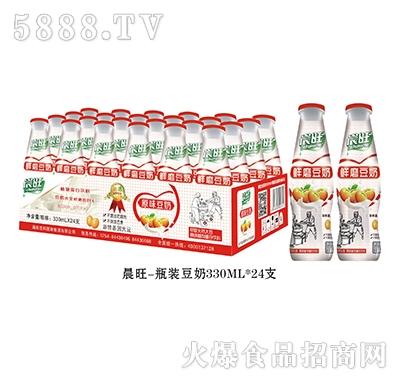 晨旺瓶装豆奶330mlx24瓶