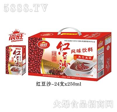 晨旺红豆沙风味饮料250mlx24盒