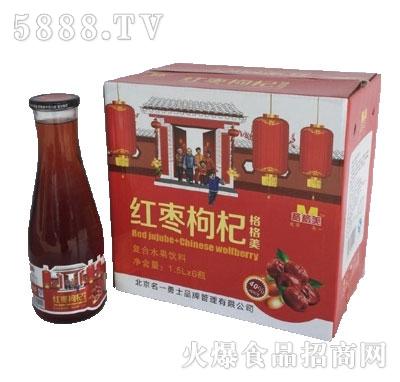 格格美红枣枸杞汁1.5Lx6大口玻璃瓶