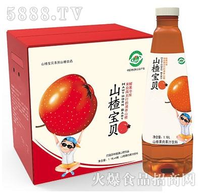 山楂宝贝山楂果肉果汁1.18Lx6瓶