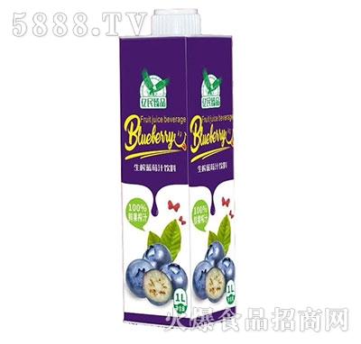 亿民臻品生榨蓝莓汁1L