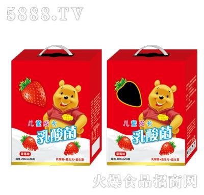 儿童成长乳酸菌草莓味200mlx16瓶