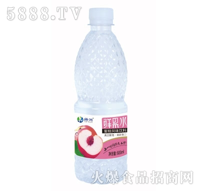 特润鲜果水(蜜桃风味) 600mlx24瓶/箱