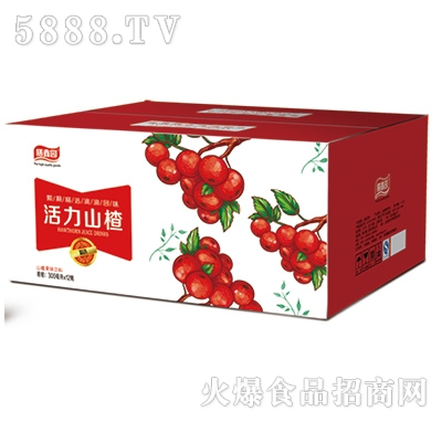 膳鑫园活力山楂果味饮料300mlx20瓶