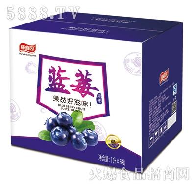 膳鑫园蓝莓果味饮料1Lx6瓶