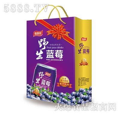 膳鑫园蓝莓汁饮料手提袋