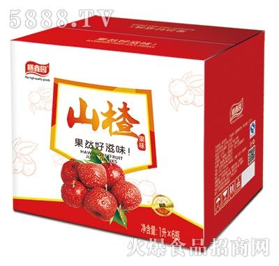 膳鑫园山楂果味饮料1Lx6瓶