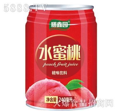 膳鑫园水蜜桃桃味饮料240mlx16罐/20罐/24罐
