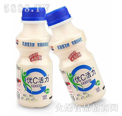 金牌优c活力乳酸菌饮料原味340ml(两瓶)